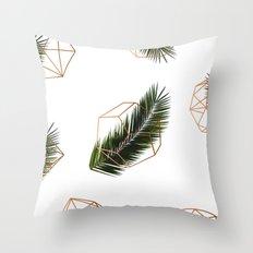 Palm + Geometry V2 #society6 #decor #buyart Throw Pillow