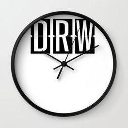 DRW Darwin Airport Australia - Airport Code Souvenir or Gift Design  Wall Clock