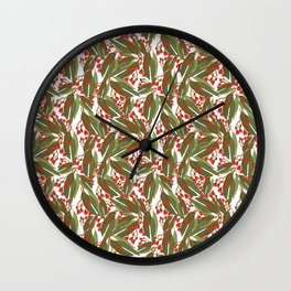 Flowering Gum - White Wall Clock