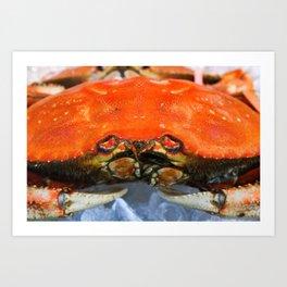 Red Crab Art Print