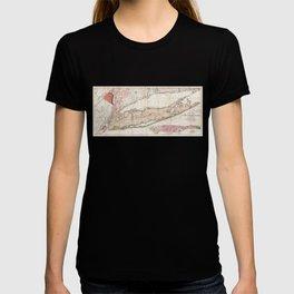 1842 Map of Long Island T-shirt