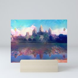 Hazy Reflection Angkor Wat Mini Art Print