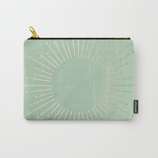 Simply Sunburst in Pastel Cactus Green Carry-All Pouch