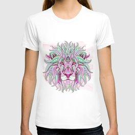 Pink Ethnic Lion T-shirt
