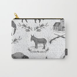 Political Toile Carry-All Pouch
