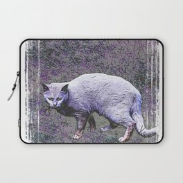 Cautious cat wary of stranger ... me! Laptop Sleeve