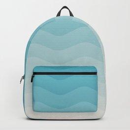Deeb blue sea waves Backpack