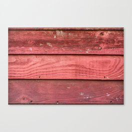 Red rusty wooden background Canvas Print