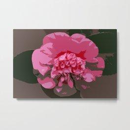 Pink Camelia Metal Print