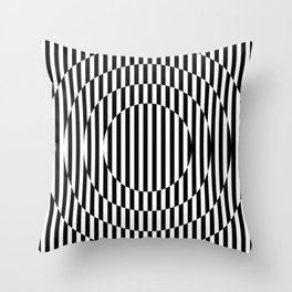 Stripes, going in circle! Throw Pillow