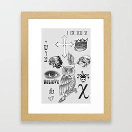 Justin tattoos Framed Art Print