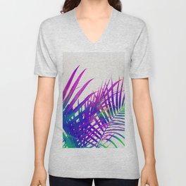 Colorful Palm Unisex V-Neck