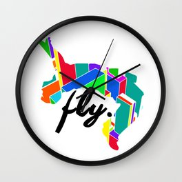 Fly Parkour Wall Clock