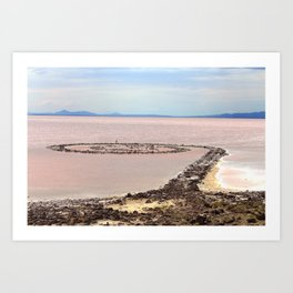 Spiral Jetty Art Print