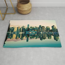 Vancouver Coal Harbor Sunset Cityscape  Rug