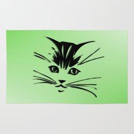 Green Cat Face Rug
