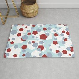 Geometric Mix Rectangle red Rug