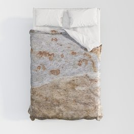 Rust Detail Stone // Unique Textured Naturally Made Material Rocky Accent Duvet Cover
