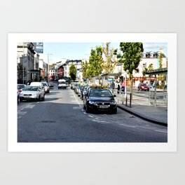 Taxi Stand, Eyre Square, Galway Art Print