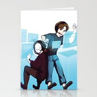 cryaotic Stationery Cards featuring Pewds and Cry by Hikkaphobia