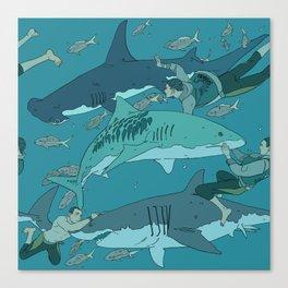 Sharks Pattern Canvas Print
