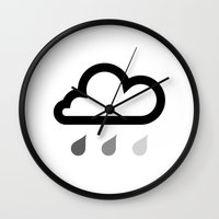 cloud Wall Clocks featuring Cloud :) by Etiquette