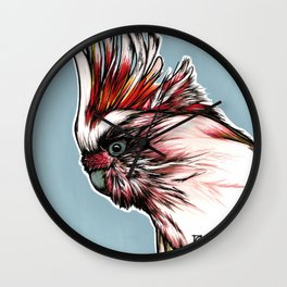 Major Mitchell´s Cockatoo Wall Clock