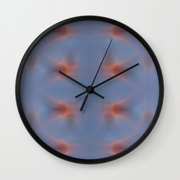 Abstract movement in universe. Blue meets red energy. Wall Clock