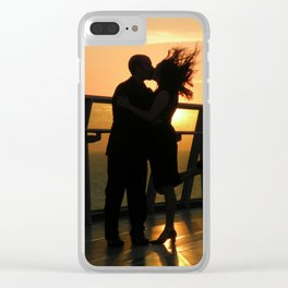 Sunset Lovers Clear iPhone Case
