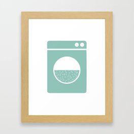 Laundry poster Framed Art Print