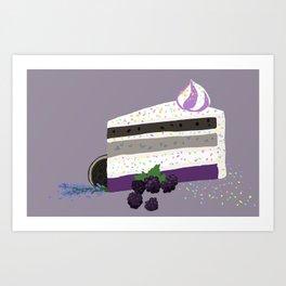 a signature cake Art Print