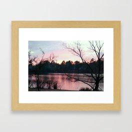 SUN VIEW LAKE Framed Art Print