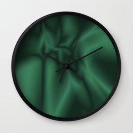 Green silk Wall Clock