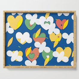 Cloudy Big Heart Serving Tray