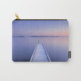 Jetty on a still lake in winter in The Netherlands Carry-All Pouch