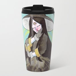 The witch with a spell book Travel Mug
