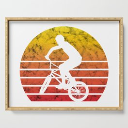 BMX Bike Biker Bicycle Retro Love Life Gift Serving Tray