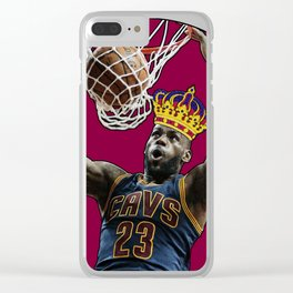 King LeBron Dunking James Clear iPhone Case