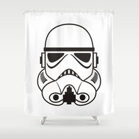 stormtrooper Shower Curtains featuring stormtrooper  by Egor Chepel