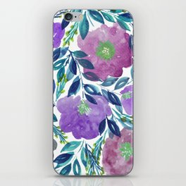 hand painted flowers_1b iPhone Skin