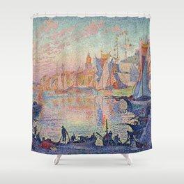 Paul Signac - The Port Of Saint Tropez Shower Curtain