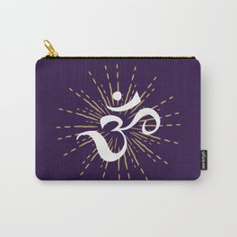 Om Mantra Universal Energy Purple Carry-All Pouch