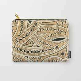 Golden Ribbons Carry-All Pouch