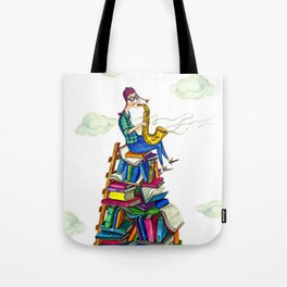 Jazzy books Tote Bag