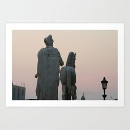 Watching the Sunset from the Capitol Art Print