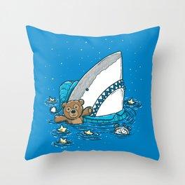 The Sleepy Shark Throw Pillow