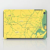 maps iPad Cases featuring Maps - Durban by DRIEHOEK