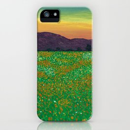 Temecula, California Spring Field of Poppies iPhone Case