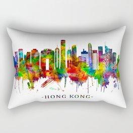Hong Kong China Skyline Rectangular Pillow