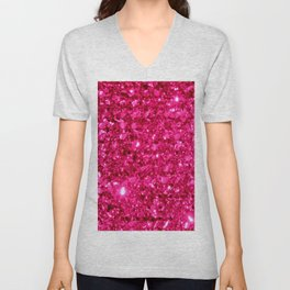SparklE Hot Pink Unisex V-Neck
